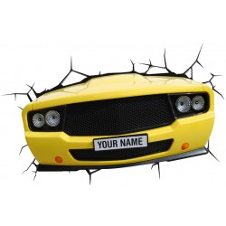 3D Muscle Car Light (Yellow)