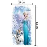 Αυτοκόλλητο τοίχου  Disney Frozen Elsa & Olaf - Decoration sticker Frozen Elsa & Olaf
