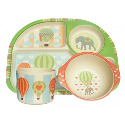 """Bimbamboo"" παιδικό σετ φαγητού ""AIR BALLOON"" - ""Bimbamboo"" kids dinner set ""AIR BALLOON"""