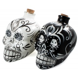 Day Of The Dead Decanter - [Black - White]