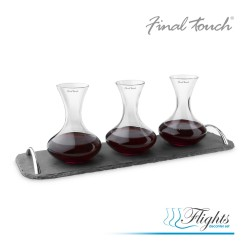 Final Touch Wine Flights Decanter Set - Σετ από 3 καράφες κρασιού της Final Touch
