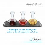 Final Touch Wine Flights Decanter Set - Σετ από 3 καράφες κρασιού της Final Touch -