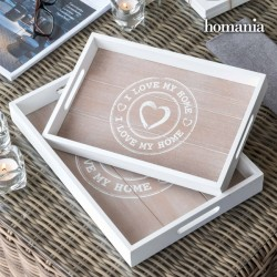"I Love My Home by Homania Trays (pack of 2) - Δίσκοι σερβιρίσματος ""I Love My Home"" (2 τμχ.)"
