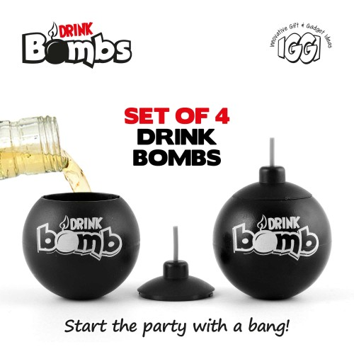 IGGI Drink Bombs - Set of 4 - Barware / Είδη ποτού