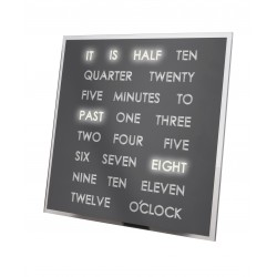 LED Word Clock - Ρολόι με LED