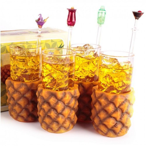Mixology Pineapple Glasses 4pcs - Αξεσουάρ Κουζίνας / Kitchenware