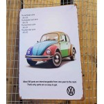 Ρετρό Πινακίδες Beetle VW - Retro sign Beetle VW
