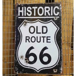 Ρετρό Πινακίδα Route 66 black - Retro sign Route 66 black