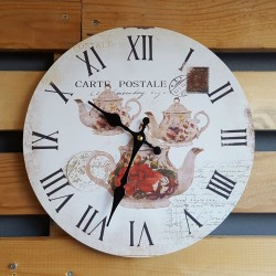 "Ρολόι τοίχου antique style ""Carte Postale"" - Vintage Wall Clock ""Carte Postale"""