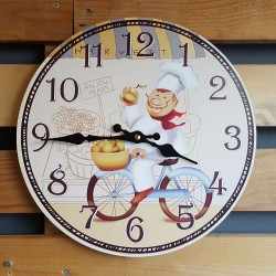"Ρολόι τοίχου antique style ""Chef"" - Vintage Wall Clock ""Chef"""