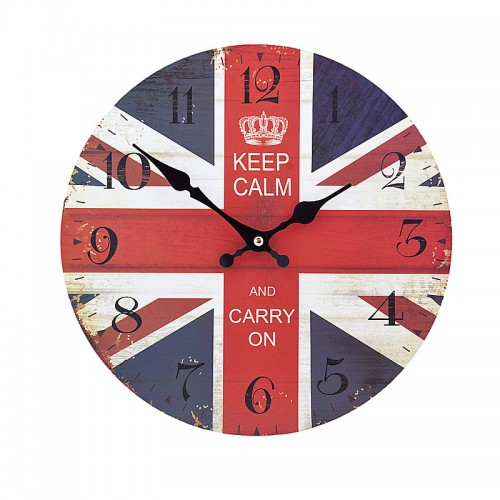 "Ρολόι τοίχου antique style ""Keep Calm"" - Vintage Wall Clock ""Keep Calm"""