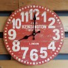 "Ρολόι τοίχου antique style ""Kensington red"" - Vintage Wall Clock ""Kensington red"""