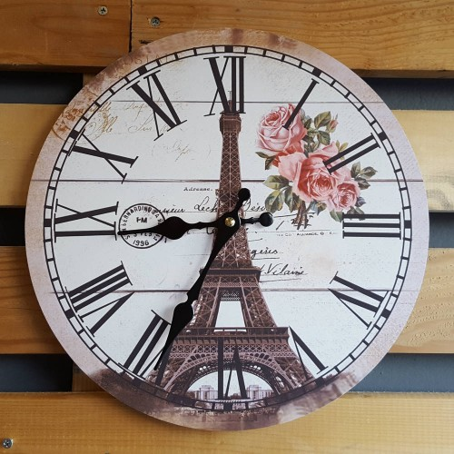 "Ρολόι τοίχου antique style ""Paris"" - Vintage Wall Clock ""Paris"""