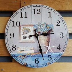 "Ρολόι τοίχου antique style ""Sea"" - Vintage Wall Clock ""Sea"""