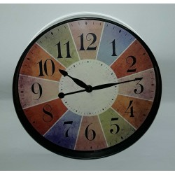 Ρολόι τοίχου Multicolored  - Vintage Wall Clock multicolored