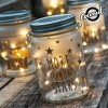 Vintage Coconut Glass Jar with LED Lights - Retro γυάλινο βάζο με LED φωτισμό
