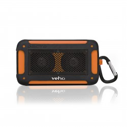 Water resistant wireless speaker - orange