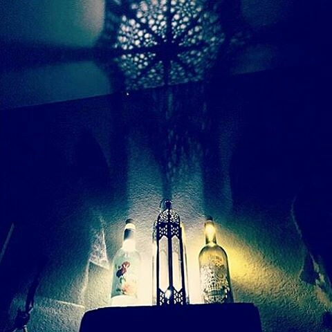 Vintage μπουκάλια φωτιστικά