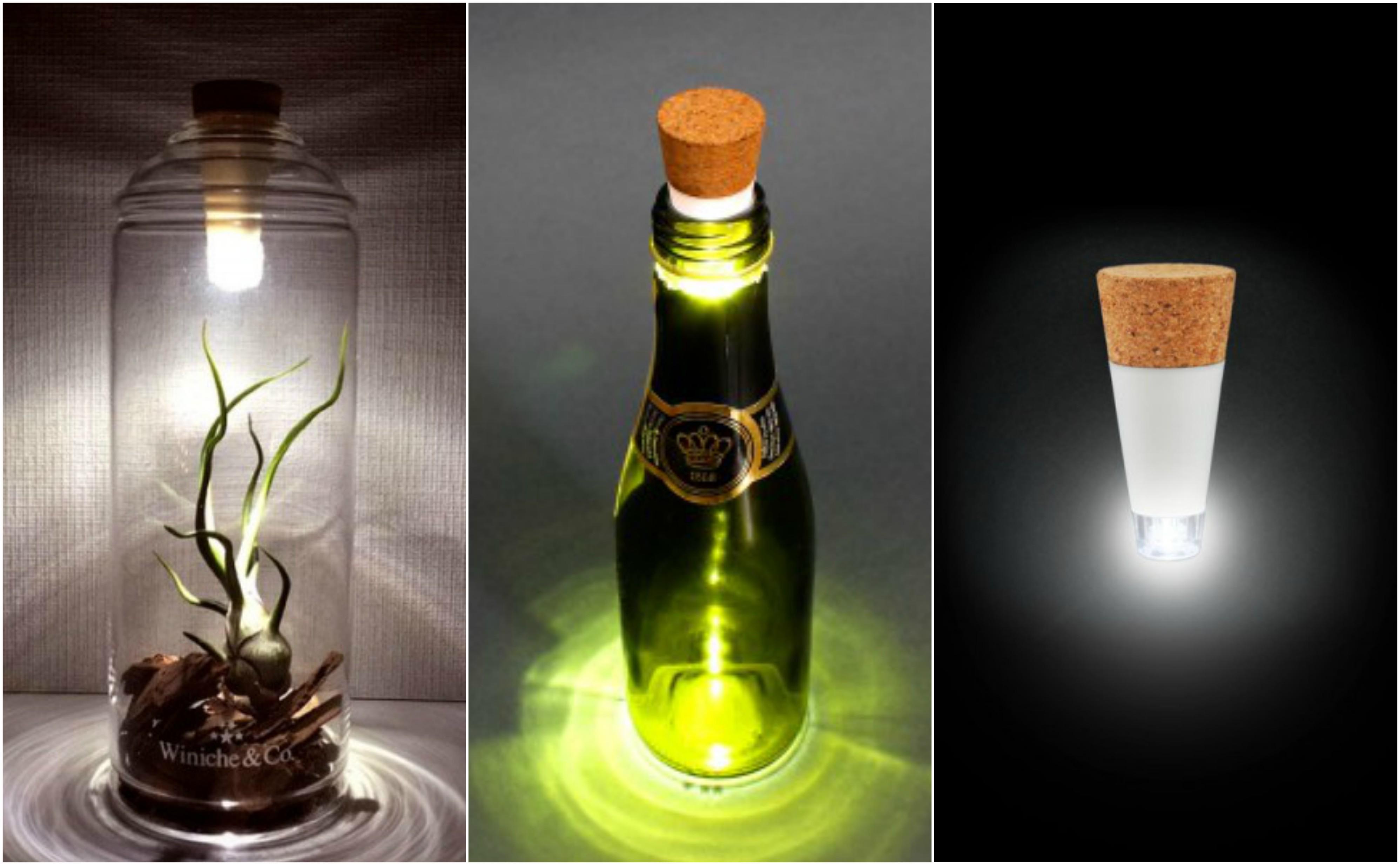 Φωτιστικά από παλιά μπουκάλια - DIY