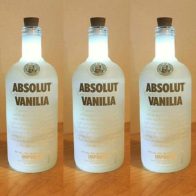 Μπουκάλια Βότκα φωτιστικά